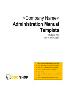Administration Manual Page 01