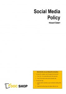 Employee Social Media Policy Page 1