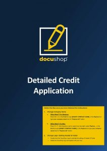 FIN 067 Detailed Credit Application Page 1