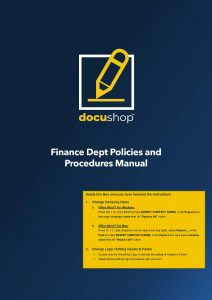 FIN 088 Finance Dept Policies and Procedures Manual Page 01