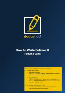 How to Write Policies Procedures Page 01