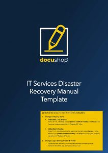 IT Services Disaster Recovery Manual Guide Page 01