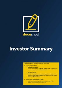 Investor Summary Mobile App Page 1
