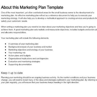 MAR001 Business Marketing Plan Template Thumb