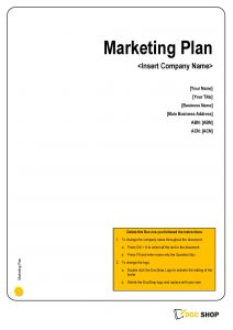 MAR001 Business Marketing Plan Template Page 01