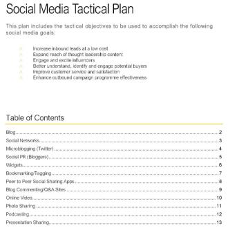 MAR002 Social Media Tactical Plan Thumb
