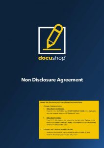 Non Disclosure Agreement Investor Page 1