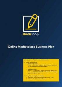 Online Marketplace Business Plan Page 01