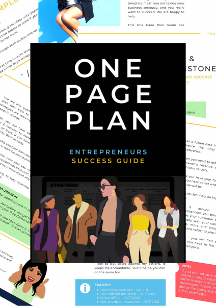 One Page Plan Cover
